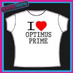 I LOVE HEART OPTIMUS PRIME TSHIRT